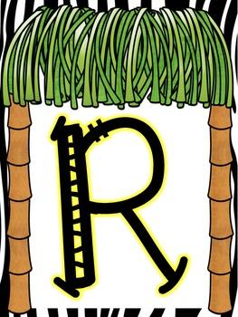 Safari/Jungle Tree-Mendous Readers AR Poster