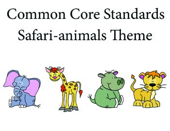 Safarianimalselephant 1st grade English Common core standards posters