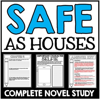 Safe As Houses Novel Study with Questions, Activities, and Projects