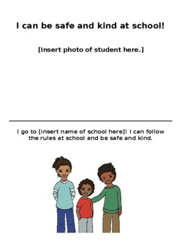 I Can Have a Safe Body & Be Kind Social Story [Editable]