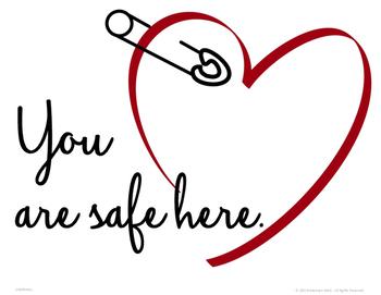 Safe Classroom Door Sign