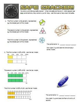 Safe Cracker - Percent of a Quantity - Math Fun!