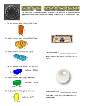 Safe Cracker - Volume - Math Fun!