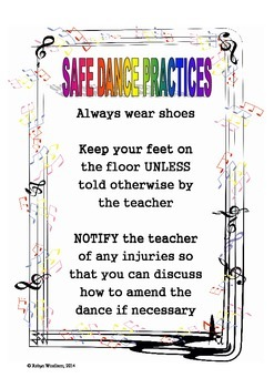 Safe Dance Practices Poster