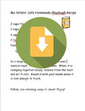 Safe, Edible Homemade Playdough