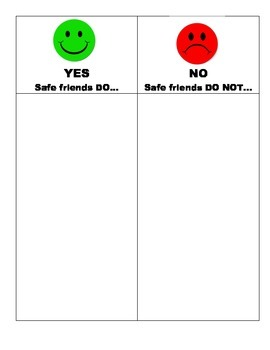 Safe Friends DO and DON'T Activity and Behavior Rewards Charts