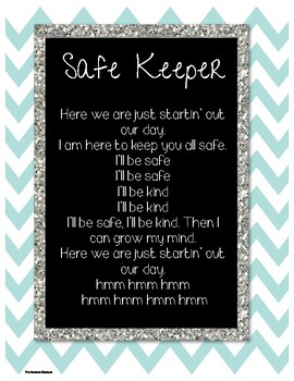 Safe Keeper Banner and Song - Conscious Discipline!!!