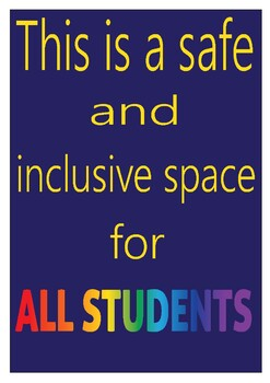 Safe Place For Student Poster