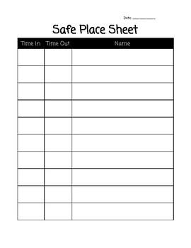 Safe Place Sheet