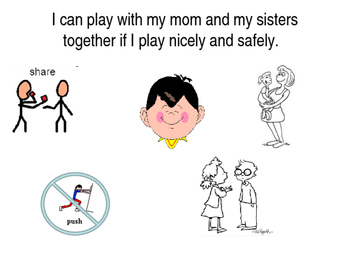 Safe Play with Younger Sibling social story