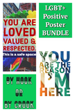 Safe Space Classroom Poster (LGBTQ+) BUNDLE