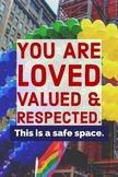 Safe Space classroom poster (LGBTQ+)