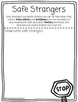 Safe Strangers Worksheets & Teaching Resources | TpT