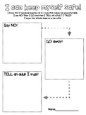 Safe Touch Worksheet (Steps to Keep Kids Safe with No, Go, Tell)