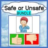 Safe & Unsafe - Bundle - Boom Cards™ & Downloadable Product