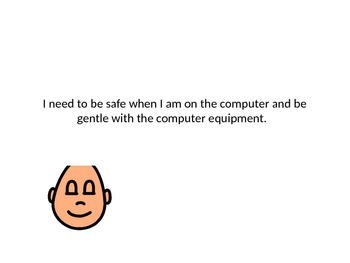 Safe on the Computer Social Story