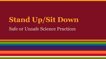 Safe or Unsafe Science Game: Stand Up/Sit Down