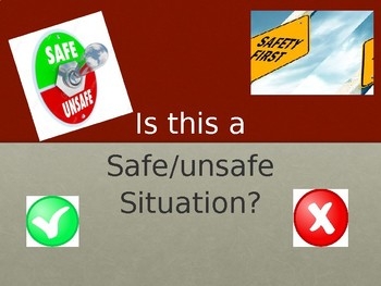 Safe/unsafe situations.