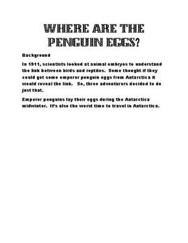 Safecracker 2:  Where are the Penguin Eggs