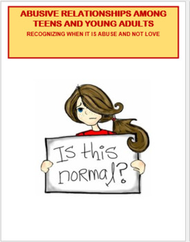 """Abuse """"Identifying Teen Abusive Relationships""""-  lesson on"""