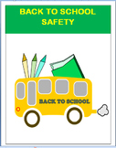 """""""Back to School Safety"""" lesson plan-3 activities"""