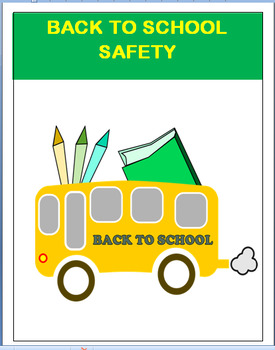 "Safety-""Back to School Safety- lesson plan-3 activities"