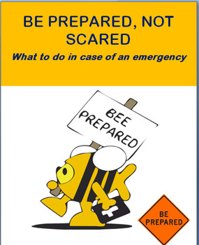 "Safety-""Be Prepared-Not Scared"" Lesson plan, 2 activities"