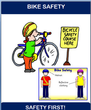 """Safety """"Bike Safety""""  Mnii-lesson and word scramble"""