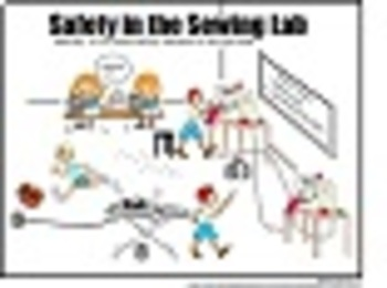 Sewing Safety Cartoon