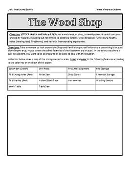 Wood Shop Safety: Safety Colors/Symbols Activity