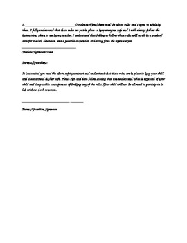 Safety Contract for Living Environment/ Biology Laboratory