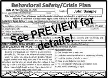 Safety / Crisis Plan