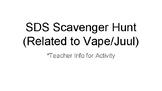 Safety Data Sheet Scavenger Hunt (Chemicals in a Vape/Juul)