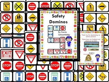 Safety Sign Dominos Environmental Print