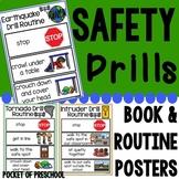 Safety Drills Books & Routine Posters (Earthquake, Tornado, & Intruder/Lockdown)