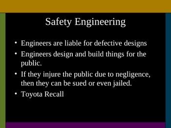 Safety Engineering and Ergonomics