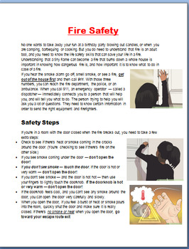 Fire Safety-Mini Lesson, Important safety tips, 3 Fire Safety Activities