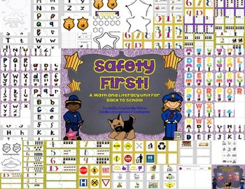 Safety First With Officer Buckle And Gloria!  Math and Literacy Centers!