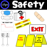 Safety First: Back to School Safety Clip Art Set 36 Clips Caution First Aid Fire