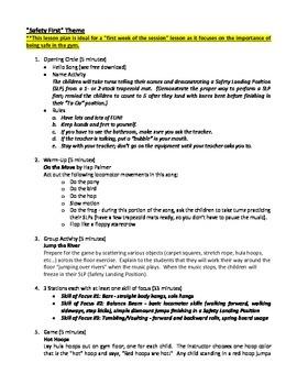 Safety First Gymnastics Lesson Plan