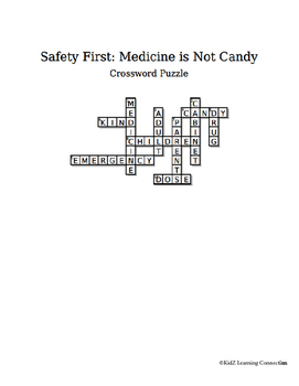 Crossword Puzzle:  Medicine Safety