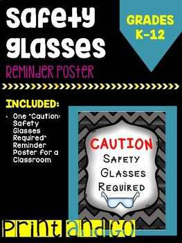Safety Glasses Poster