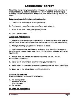 Safety Handout