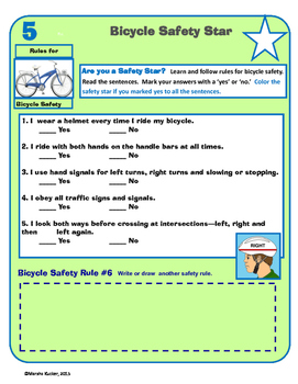 Bicycle Safety Rules and Checklist