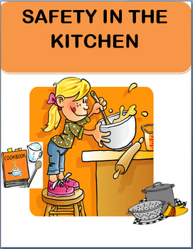 kitchen safety for kids lesson quiz writing prompt coloring page - Kitchen Safety