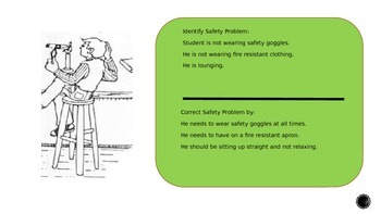 Safety Lab ppt interactive activity identify and problem solve