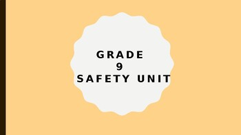 Safety Lesson Grade 9 PE