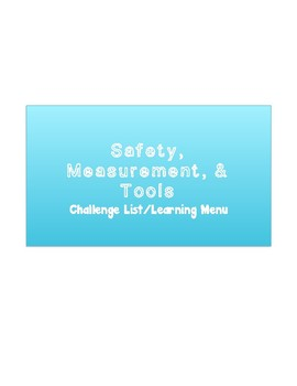 Safety, Measurement, & Tools