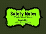 Safety Notes: Middle School Science