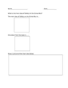 Safety On The School Bus Main Idea and Details